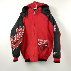 Vintage Logo Athletic Chicago Bulls Jacket Youth L